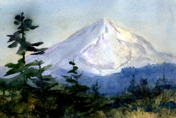 Mt. Hood 279  - original watercolor painting - Bonnie White - Mt. Hood - National Scenic Area - watercolor paintings - Columbia Gorge