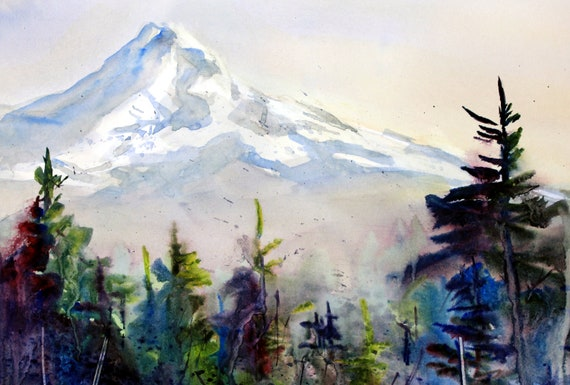 Mount Hood signed print by Bonnie White Mt. Hood 224