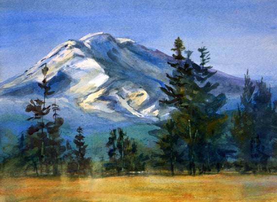 Mt. Adams 95 original watercolor painting by Bonnie White