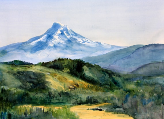 Mt. Hood 302 - a print of a watercolor painting of Mt. Hood by Bonnie White