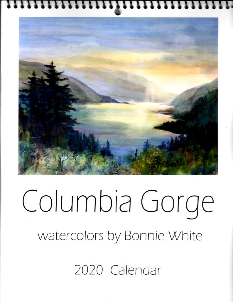 Columbia 2020 Calendar 2020 Columbia Gorge Calendar Bonnie White Columbia River | Etsy