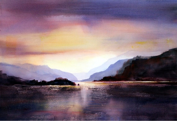 Columbia Gorge 301 a signed watercolor print by Bonnie White