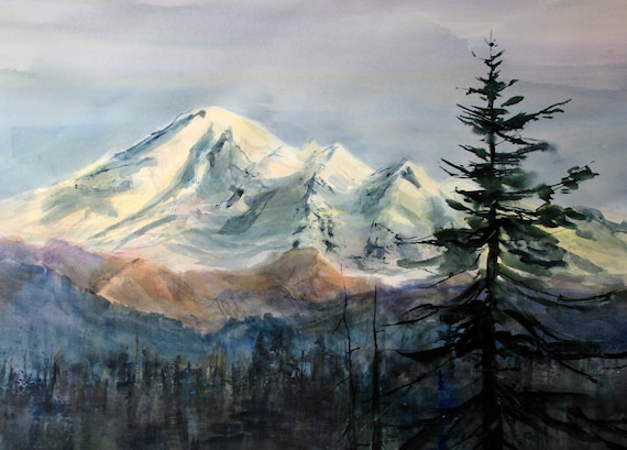 Mount Baker signed print by Bonnie White