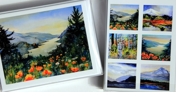 Columbia Gorge Poppies card pack by Bonnie White