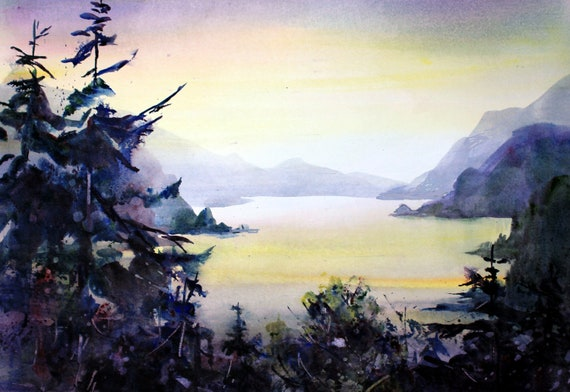 Columbia Gorge 245 - signed watercolor print of the Columbia Gorge by Bonnie White