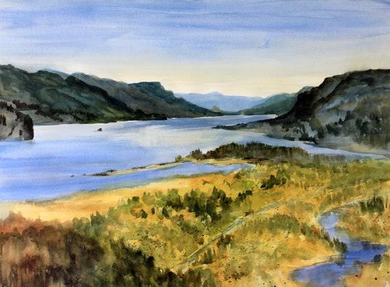 Columbia Gorge 400 an original watercolor by Bonnie White