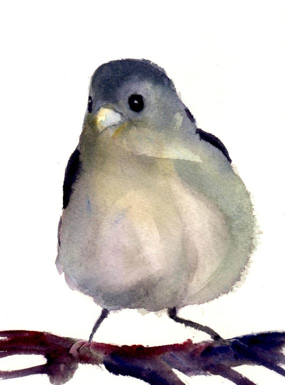 King Bird - signed bird print - watercolor - Bonnie White
