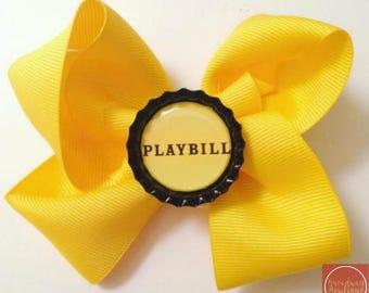 Playbill Hair Bow Broadway Bows Broadway Bowtique Hair Bows