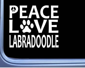 """ThatLilCabin LABRADOODLE MOM PAW PRINT 6/"""" AS1541 car sticker decal"""