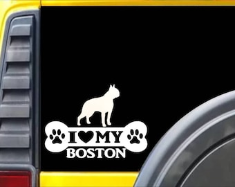 "Boston Terrier love 6/"" STICKER *F204* DECAL bully bulldog bostonterrier"