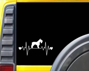 Miniature Schnauzer Lifeline Window Decal Sticker *I247*