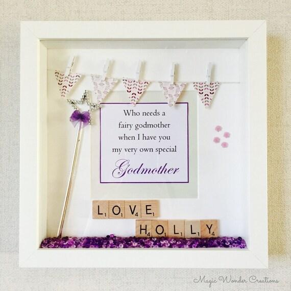 Godmother Frame Personalised Godmother Gift Happy Godmother | Etsy