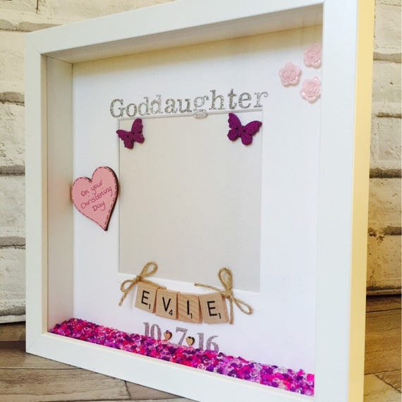 Funky Personalized Godmother Picture Frame Festooning - Ideas de ...