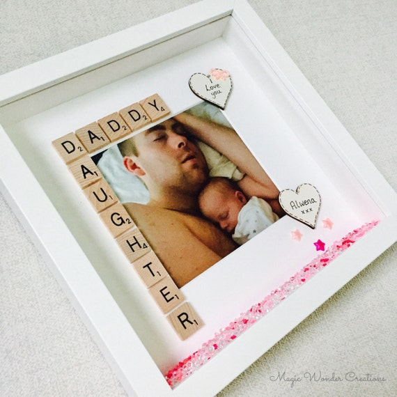 best daddy gift daddy frame dad birthday gift personalised etsy