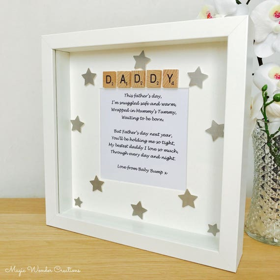 Fathers Day Love From The Bump Gift Fathers Day Bump Frame | Etsy