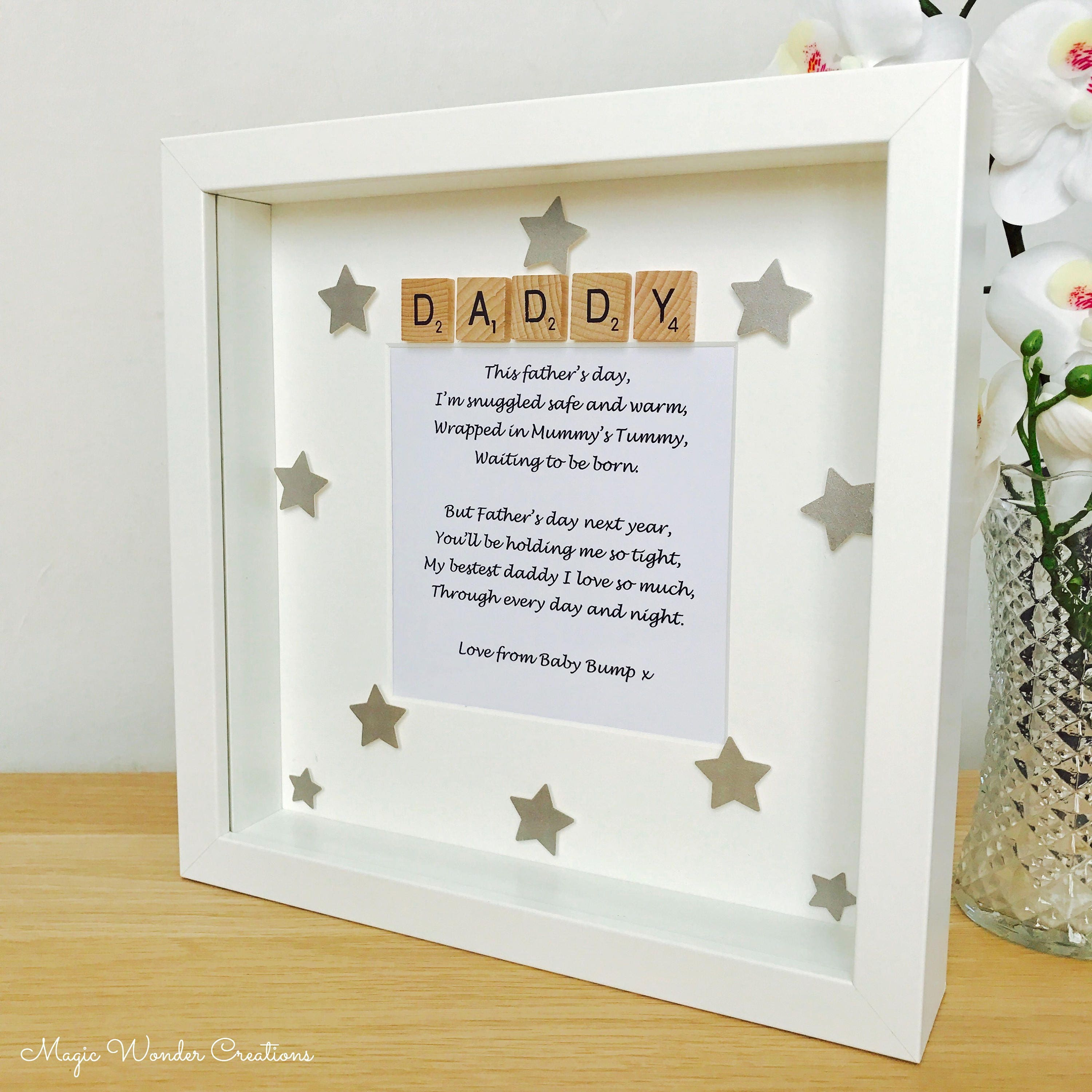 Fathers Day Love From The Bump Gift Fathers Day Bump Frame Etsy
