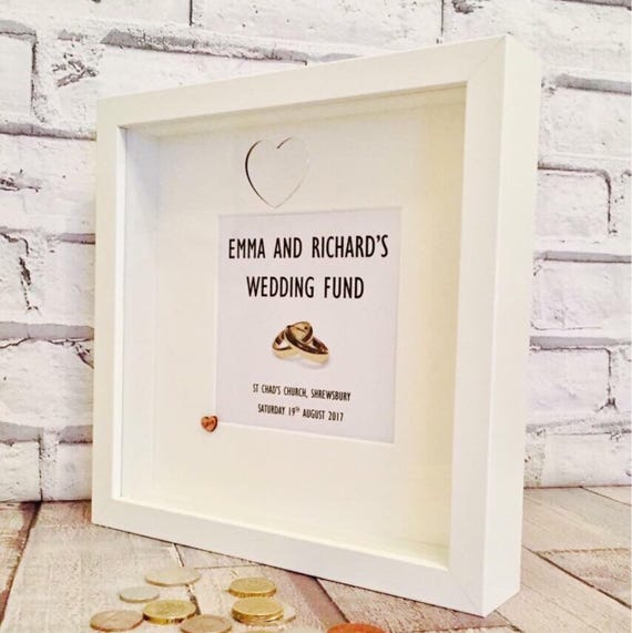 Wedding Money Box Frame Special Wedding Gift Engagement Etsy