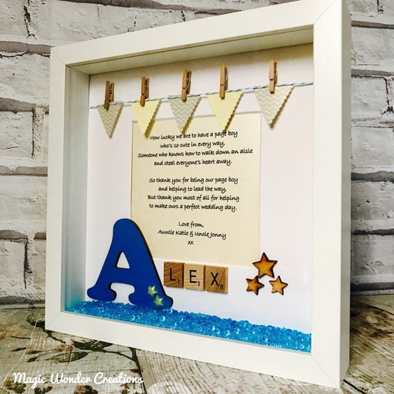 Page Boy Frame Personalised Page Boy Gift Pageboy Gift | Etsy