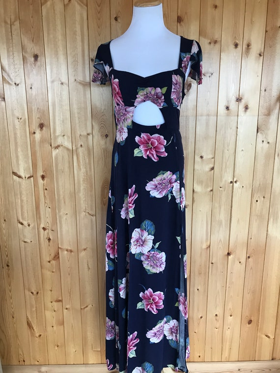 Urban Outfitters Reformed Cut Out Maxi Floral Dres