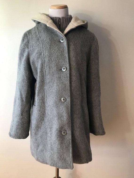 Vintage 1960's Surrey Classic Wool Blanket Coat