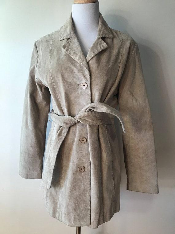 Vintage 1970's Beige Suede Jacket