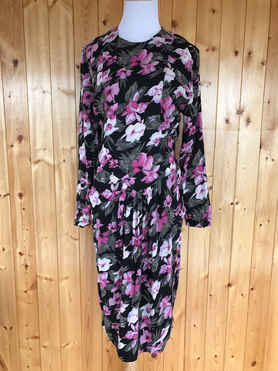 Vintage Nina Piccalino 80's Floral Day Dress