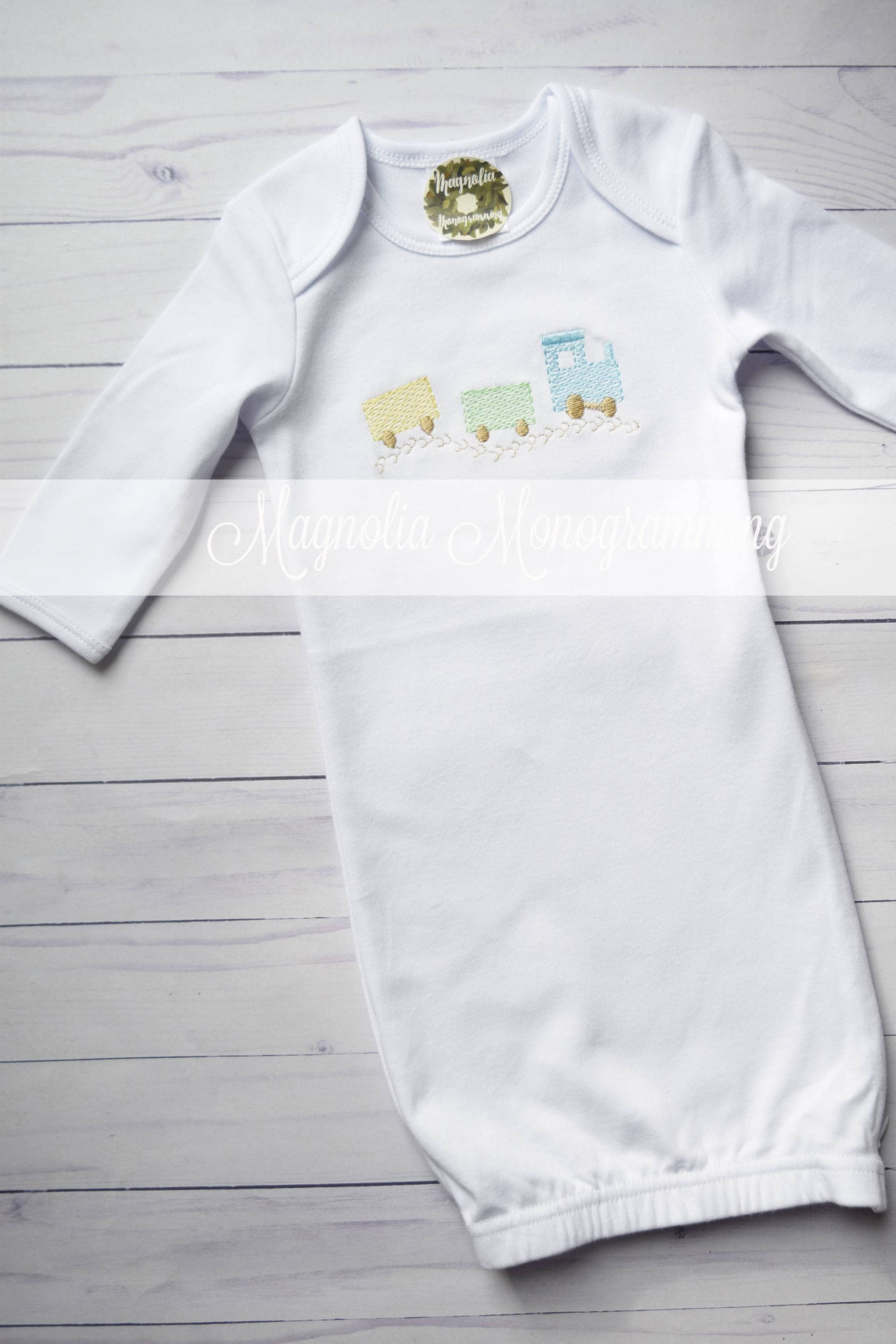 White Baby Vintage Train Gown, Baby Boy Hospital Gown, Baby Boy ...