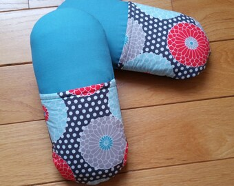 Gerbera Women's Cotton Slippers - Indoor Slip On Soft Sole Slippers Gerbera Flowers