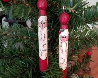 Santa Clothespin Ornament
