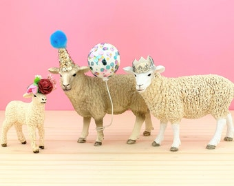 Lamb Cake Topper/Farm Party Cake/Farm Animal Cake Toppers/Party Animals