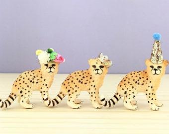 Cheetah Cub Cake Topper/Safari Party Cake/Safari Animal Cake Toppers/Party Animals