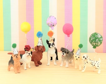 Small Dogs Cake Topper/Pets Party Cake/Pets Animal Cake Toppers/Party Animals/Dog Party Cake