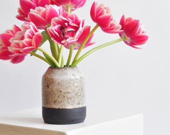 Black and White, Minimal Bud Vase - Available to Ship Now