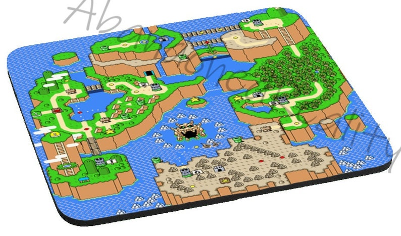 Ready To Ship Super Mario World Map Mouse Pad | Etsy