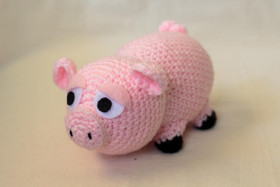 Pig Crochet Pattern Amigurumi Crocheted Plush Farm Animal Etsy