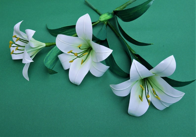 Oriental Lily Paper Flower Templates Tutorial See Description Instant Download Svg Jpg Di Y Home Decor Bouquet