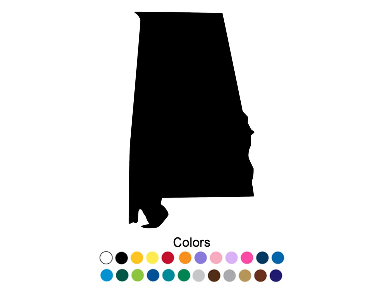 Alabama Decal Alabama Home Alabama Sticker Alabama State | Etsy