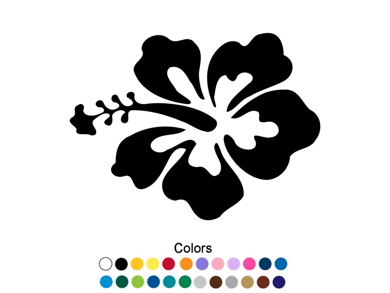Hawaiian flower decal hawaiian flower sticker outdoor vinyl etsy image 0 izmirmasajfo