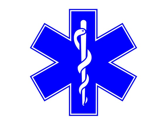 Rod Of Asclepius Medical Logo Paramedics Symbol Outdoor Vinyl Etsy