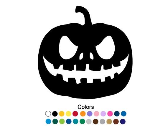 Jack-o etiqueta miedo Halloween calabaza etiqueta engomada | Etsy