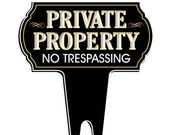 No trespassing sign | Etsy