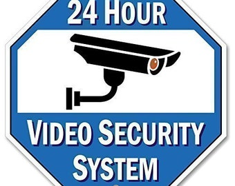 image relating to Video Surveillance Signs Printable named Safety digicam signal Etsy