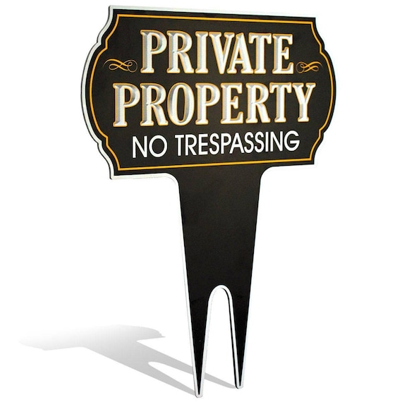 Signs Authority Private Property No Trespassing Metal Yard Sign  Weatherproof Protect Your Home Safety & Privacy Warning Sign 15