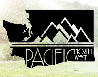 Pnw Sticker Decal Northwest Trees Mountains Nature Vinyl