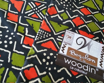 "45"" African Fabric, Bogolan de Woodin, sold by the yard"