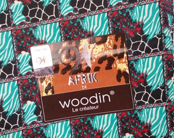 "45"" Woodin  African Fabric sold by the yard"