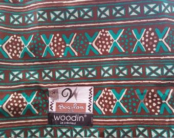 "45"" African Fabric, Bogolan de Woodin sold by the yard"