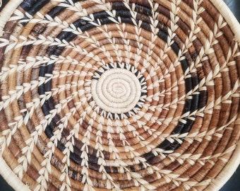 "12""African basket made in Uganda"