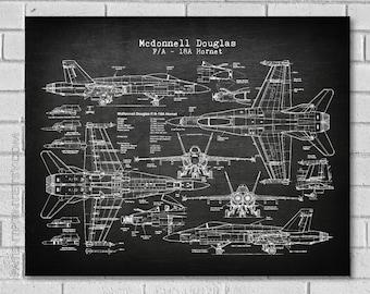 f18 hornet patent print - airplane patent - plane art - military decor -  air force print - f18a - f18 airplane - fighter- patent print vaf18