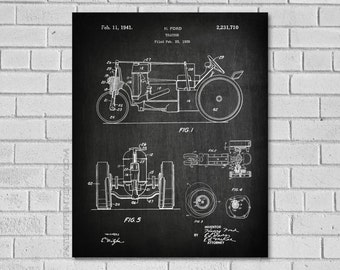 Tractor blueprint etsy farm tractor decor tractor patent art tractor diagram tractor blueprint farm decor malvernweather